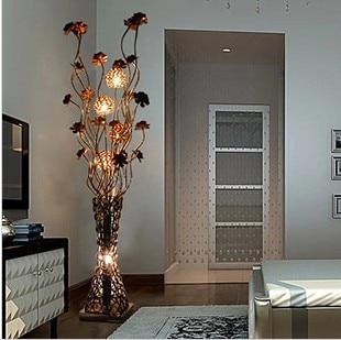 Modern brief fashion floor lamp bedroom lamp fashion vase aluminum ...