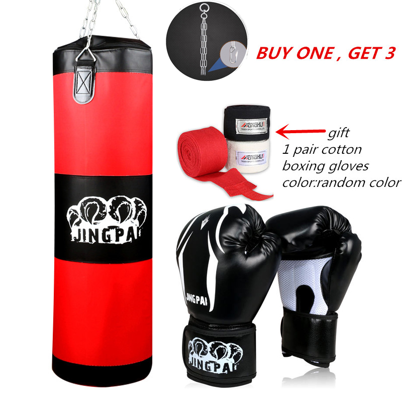 все цены на Army Green Red Empty Kick Boxing Bag Training Fitness Punching Bag Saco De Boxeo Hook Hanging MMA Fight Sandbag(empty)+ gloves