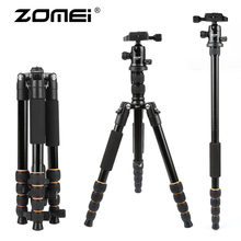 ZOMEI lightweight Portable Q666 Professional Travel Camera Tripod Monopod aluminum Ball Head compact for digital SLR DSLR camera(China)