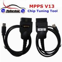 Venda quente SMPS MPPS V13 ECU Tuning Chip Ferramenta Para EDC15 EDC16 EDC17 Multi-línguas Transporte Rápido