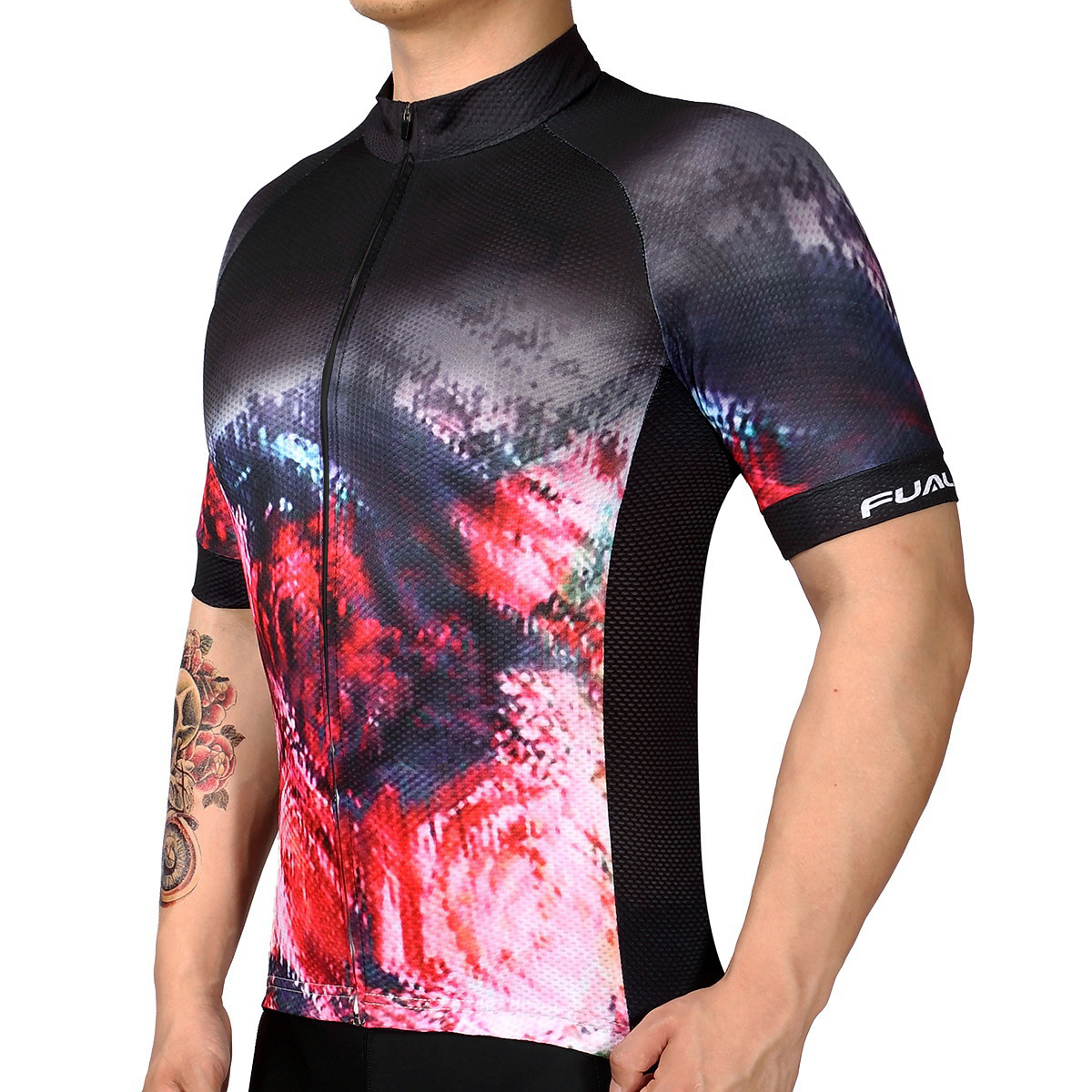 2019 LKPRBD Bicycle mtb speckle cycling jersey only short sleeve cycling clothing ropa ciclismo invierno bike jersey in Cycling Jerseys from Sports Entertainment