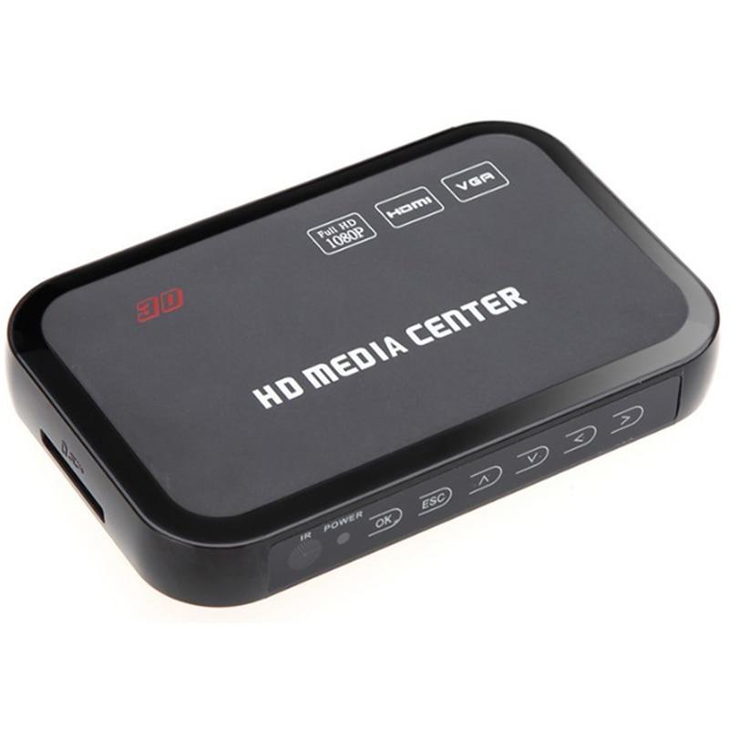 Eu Plug Full Hd 1080P Media Player Center Multimedia Video Player With Hdmi Vga Av Usb Sd/Mmc Port Remote Control Ypbpr Cable
