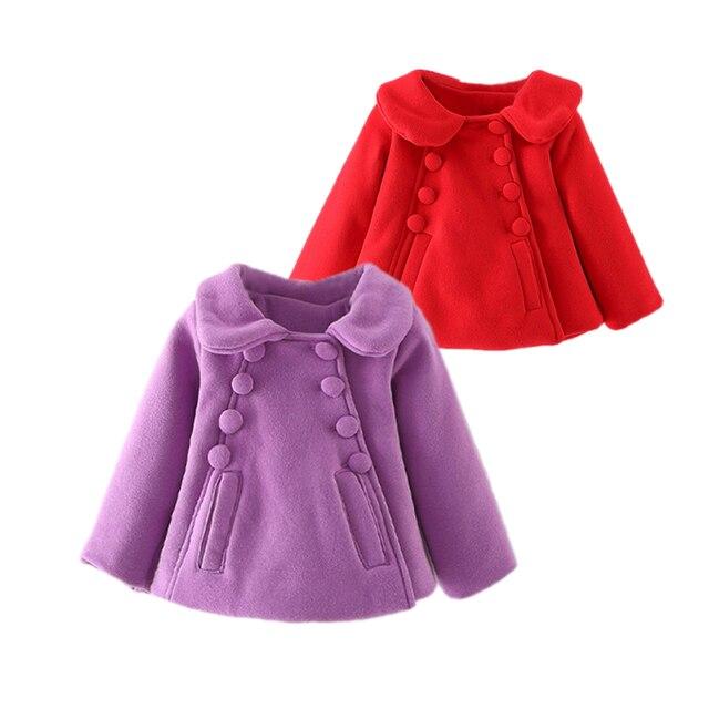 Симпатичные причинно девочка толщиной плащ Европейский стиль топы пальто для 9-24 М младенцев новорожденных infantil верхняя одежда куртка одежда
