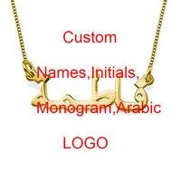 Women Necklace 2015 Trendy Monogram Initial Name Silver Tiny Letter Necklace Pendant Necklaces Nl 190