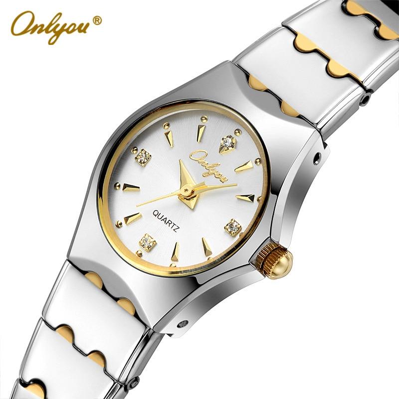 Wrist Watches For Women Men Quartz-Analog Rhinestones Coffee Gold Stainless Steel Strap Ladies Dress Watch Relogio Feminino 8677 analog quartz watch for men women