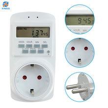 Electronic Digital Timer Switch 24 Hour Cyclic EU Plug Smart Socket Outlet Programmable Timing 90V-250V