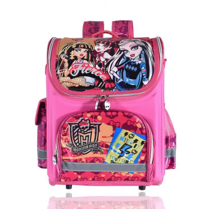 Ортопедические детей школьные сумки для девочек; Новинка Детский Рюкзак Monster High Книга сумка принцесса ранцы Mochila Escolar