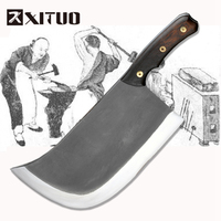 XITUO Metal Forged Handmade Clip Steel Chef Boning Knife Split Butcher Meat Knife Kitchen Professional Slicing Knives Big &Heavy