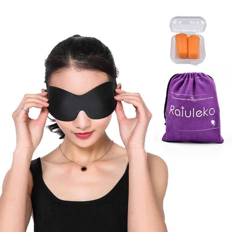 3 Colors Polyester Sleeping Eye Mask Sponge Padded Shade Cover Eyeshade Portable Travel Blindfold Office Eyepatch Night Bandage