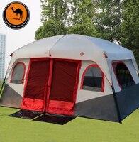 2018 cammello vendita Calda all'aperto 6 8 10 12 persone spiaggia tenda da campeggio anti/impermeabile/pioggia UV/impermeabile 1 camera 1 sala per la vendita/on vendita