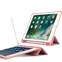 soft tpu TPU Soft Smart Case For iPad 9.7 2017/2018 Multi-folded Protective Cover With Pencil Slot Tablets Case For iPad 2018 Case 9.7