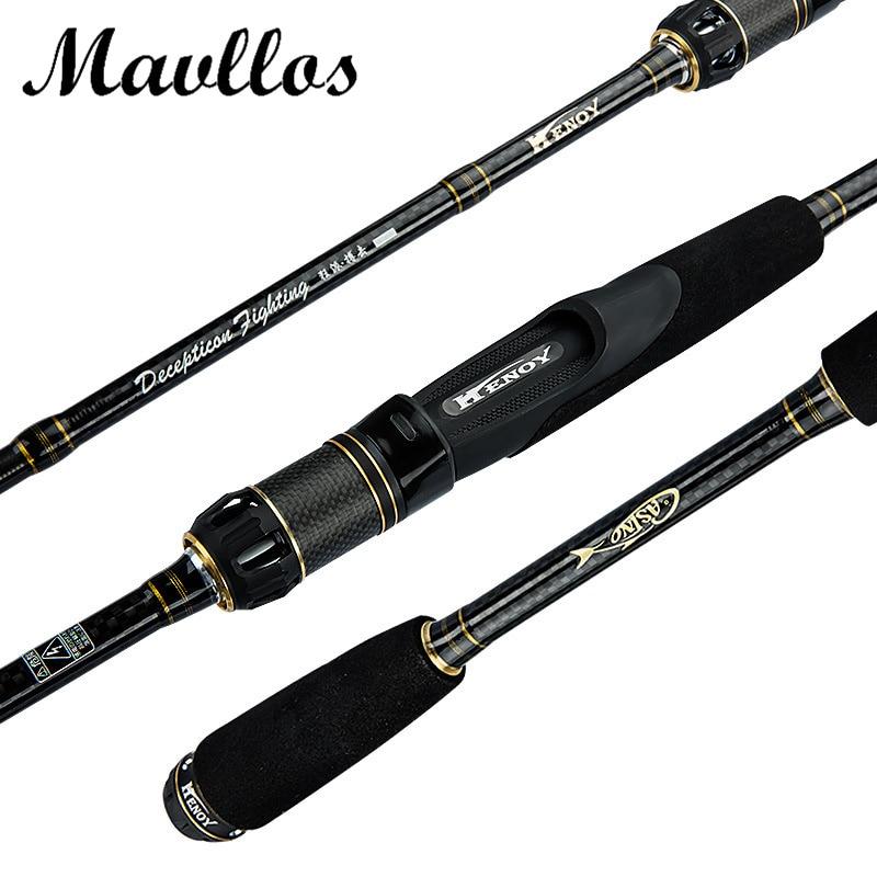где купить Mavllos 2 Sections Carbon Fiber Super Hard Spinning Rod C.W7-20g Ultra Light Spinning Rod 5-14LB Saltwater Casting Fishing Rods дешево