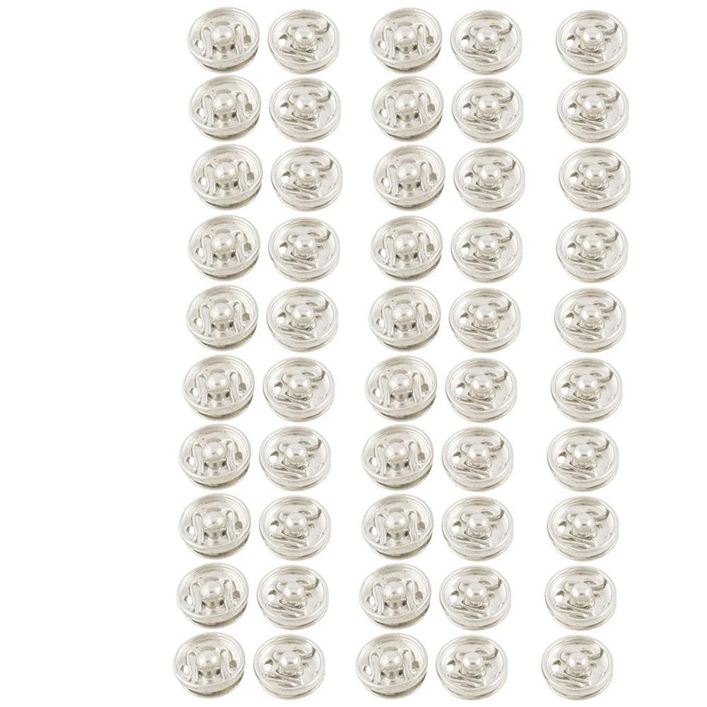Kleding Naaien 10 mm Drukknopen Knopen Sluiting Zilver Toon 50 - Kunsten, ambachten en naaien