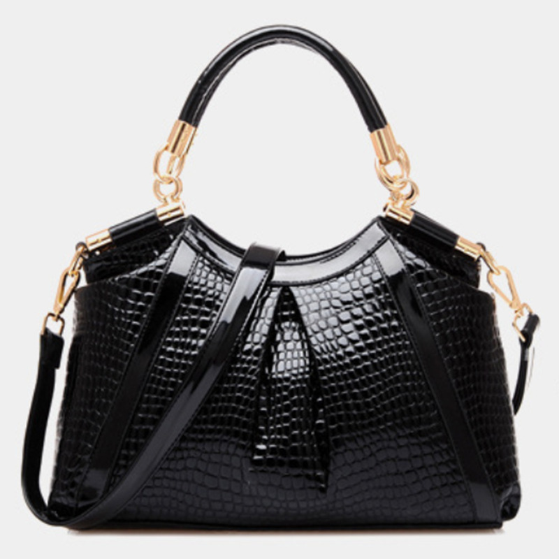 2016 Fashion Crocodile Women Leather Embossed Bag Famous Designers Brand Handbag Luxury Cowhide Shoulder Crossbody Bags G89