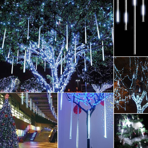 Free Shipping Cm Pcs Set Christmas Lights Tree Decoration Shower Rain Led Meteor Tube Icicle Light Of Waterproof In Holiday Lighting From Lights