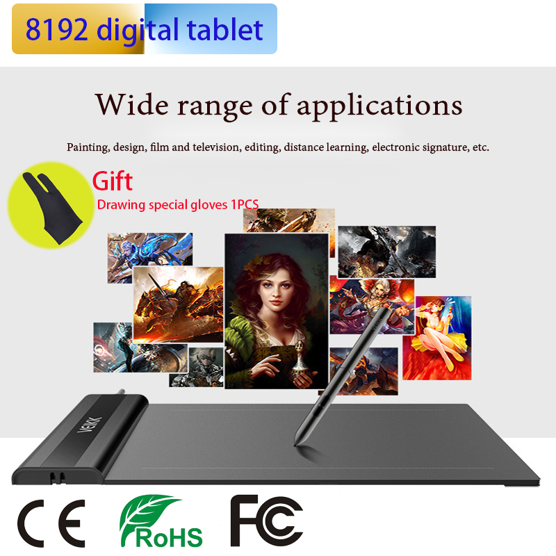 640 Digital Tablets 6*4-Inch Painting Pen Tablet Professional Signature USB Graphics Drawing Tablets For OSU Game With Gift