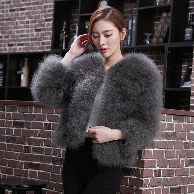 90e4d065229 Vintage fluffy faux fur coat women Clothes Short furry fake fur winter  outerwear pink coat 2018 autumn casual party overcoat  10
