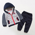 Niños Niños Establece Primavera 2017 Nuevas Chaquetas + Pantalones De Niño Pantalones + Camiseta 2 Unidades Set Niño Marca ropa de Los Niños