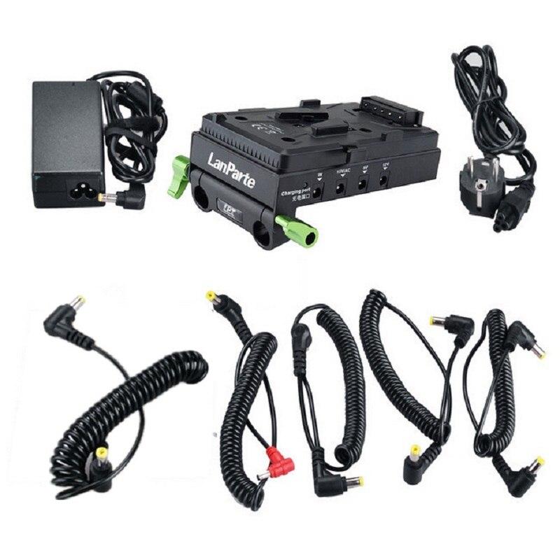 bilder für LanParte VBP-01 V-mount für BP Batterie Stromversorgung für DSLR oder Video kamera monitor display USB mit HDMI 1 verwandeln 2