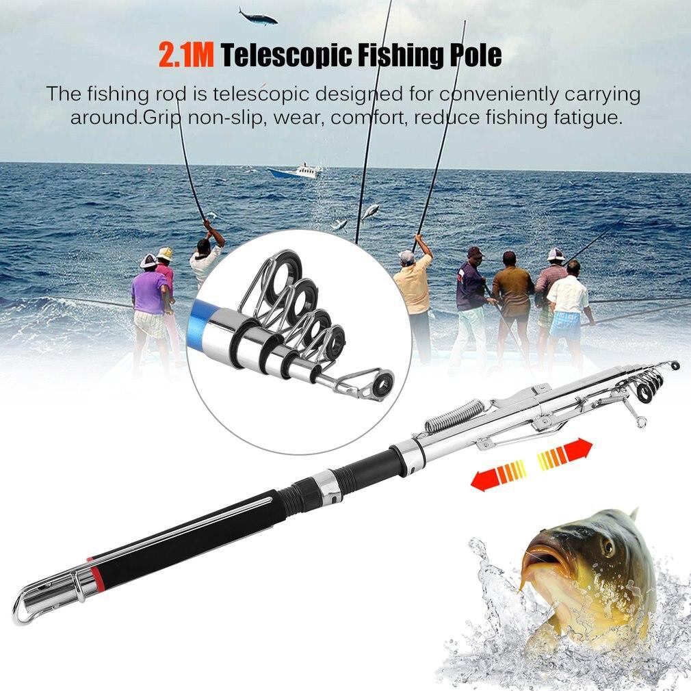 Automatic Fishing Rod Glass Fibre Reinforced Plastic Reel Combo Kit Portable Telescopic Fishing Pole Folding Adjustable Rod