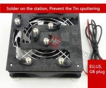 Вентилятор охлаждения Распайки станция рабочая станция, предотвратить олово распыления Для Ремонта IP, 4S, 5, 5S (5c), 6, 6s. 5 джиги + 1 вентилятор охлаждения