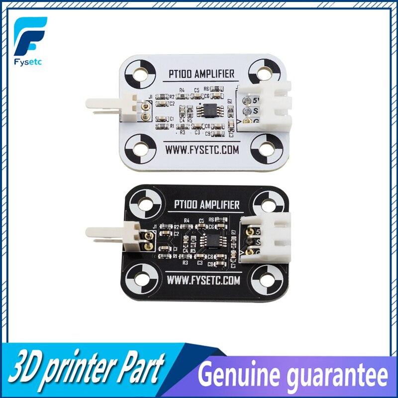 V6 PT100 Amplifier Board White/Black PT100 Sensor High Accuracy Temperature Board Upgrade Amplifier Board 3D Printer Part
