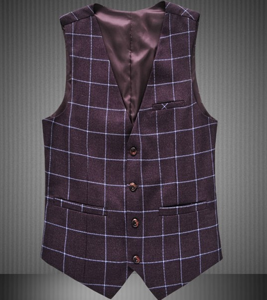 2017 2016 Otoño Nueva Plaid Chalecos Hombres Chaleco de Los Hombres de Moda de La Marca de Moda cuadrícula Traje Formal Chalecos de Los Hombres Más Tamaño 3XL 4XL 5XL 6XL 5Z