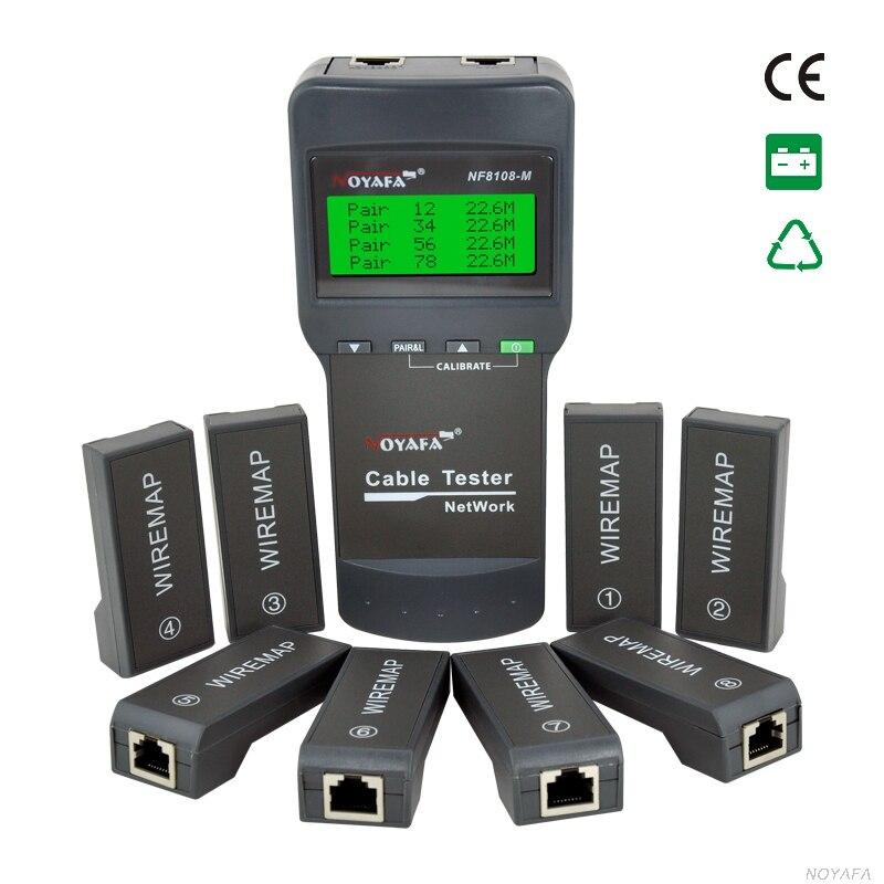 Nouveau Câble longueur testeur RJ45 RJ11 USB Testeur de Câble Réseau Compteur NF8108-M