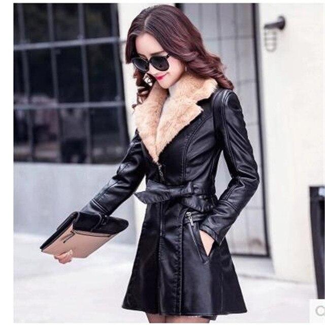 differently save up to 80% outlet store Abbigliamento invernale aggiungi lana imitazione giacca di pelle a maniche  lunghe donne vestiti cappotto di modo dell'edizione del han di spessore di  ...