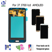 100 Tested LCD Display With Touch Screen Digitizer Replacement AMOLED For Samsung Galaxy J7 J700 J700F