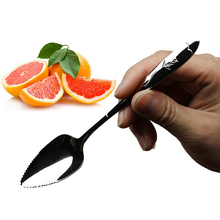 17 см фруктовая грейпфрутовая ложка с длинной ручкой, ложки из нержавеющей стали, кухонные гаджеты, инструменты для приготовления пищи, ложка