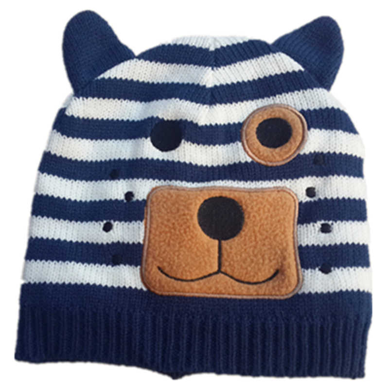 9bf0ab3b Fashion Lily & Dan Baby Boys Girls Winter Warm Knitting Wool Cute Cat Dog  Bear Ear