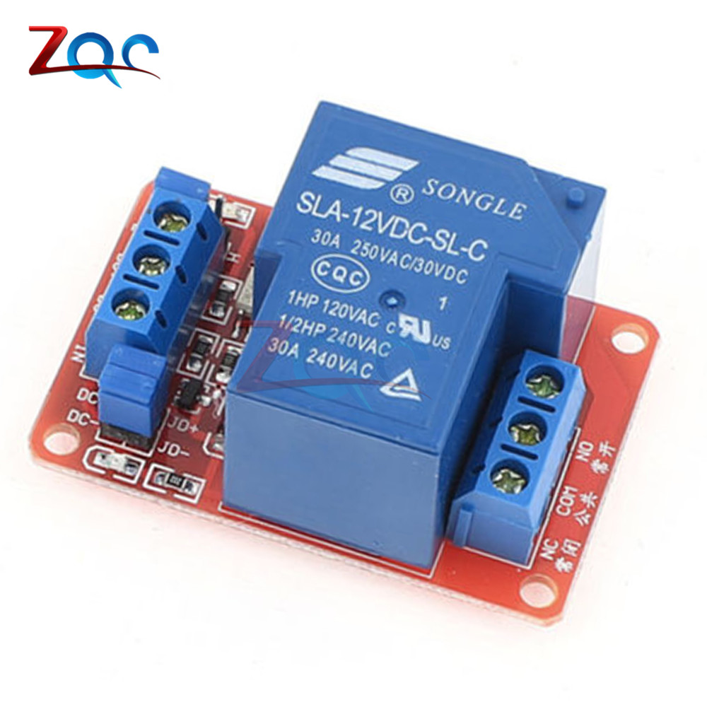 DC 5V 12V 24V 30A High Power 1-Channel Relay Module With Optocoupler H/L Level Triger for Arduino Mega AVR PIC DSP ARM dc 12v 8 channel relay module with optocoupler for arduino uno mega 2560 1280 arm pic avr