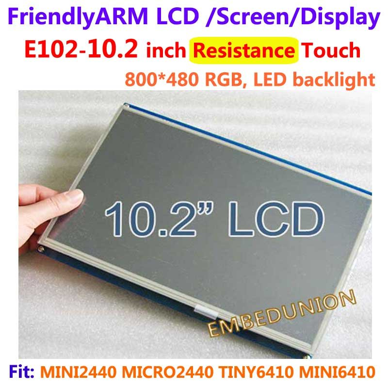 , Friendly arm E102, 10.2 pouces écran tactile résistance écran tactile, pour MINI2440 MICRO2440 TINY6410 MINI6410