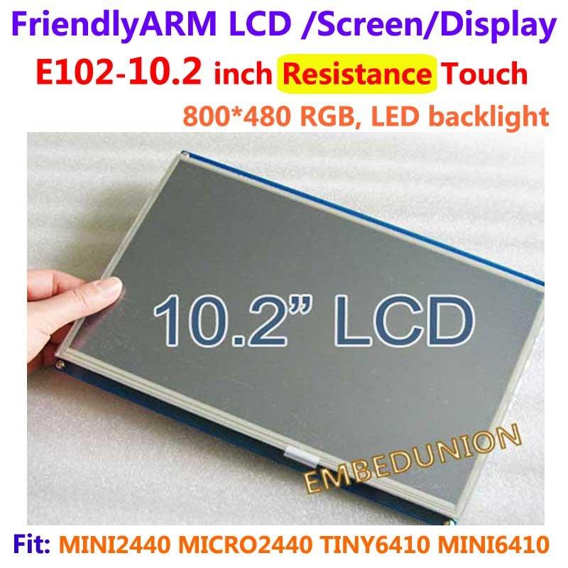 , FriendlyARM E102, pantalla táctil de 10,2 pulgadas con resistencia de pantalla táctil, para MINI2440 MICRO2440 TINY6410 MINI6410