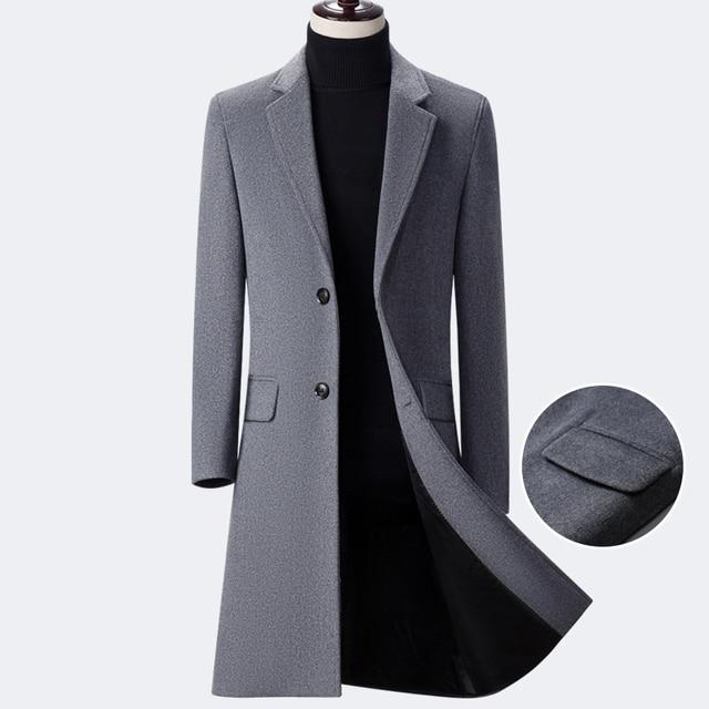 ZZ023 Lange Mantel in Mantel Coatl Woll Männer Mann Lange Mischung 2018 Neue Winter jacke US249 0Seanmase Mens Woolen Wolle Einreiher Parka trshQdC