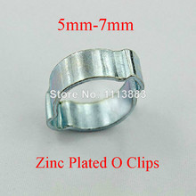 New Zinc Plated O-Clips O Clamp(5mm-7mm) For Use On Coolant Pipe Connections