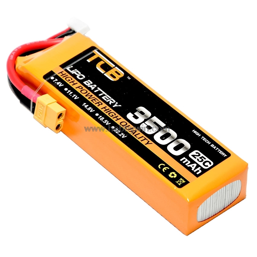 14.8V <font><b>4S</b></font> <font><b>3500mAh</b></font> 25C <font><b>LiPO</b></font> Battery XT60 plug Burst 40C RC Model Vehicle Airplanes FPV Drone Speed boat Lipolymer image
