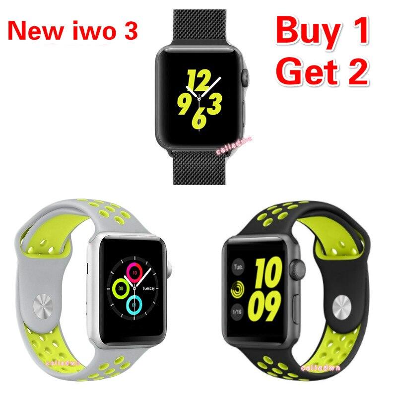 2017 nuevo iwo 3 smartwatch smart watch mtk2502c iwo 2 Notificador de actualizac