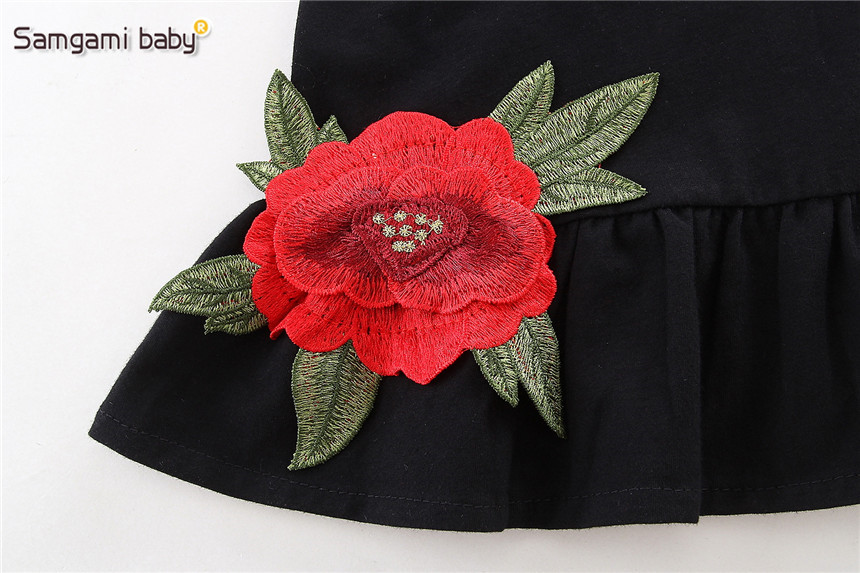 SAMGAMI-BABY-New-Embroider-Design-Black-Short-Sleeve-Dresses-Fashion-Cute-Girls-Clothes-Summer-Toddler-Girl-Dresses-Size-80-120-3