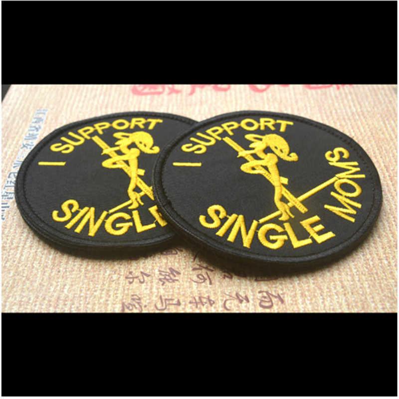 I wsparcie pojedyncze MOMS Patch do pamiątka sportowa Medal wojskowy taktyczne naszywki haftowane osobowości 3D haftu odznaki