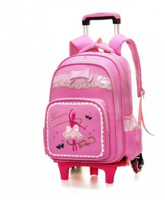 64e23bbc5b School bag wheels for Kids Wheeled Backpacks Children Backpack on wheels Student  Rolling Backpack For girls Travel Rolling bags