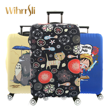 Travel accessories Luggage cover Suitcase protection baggage dust cover Trunk set Elasticity Cute cartoon character Trolley case