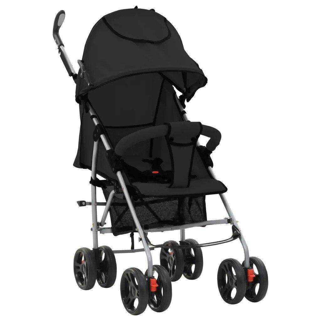 VidaXL Baby Stroller Portable Folding Comfortable 2-In-1 Baby Stroller Lightweight Pram Baby Carriage Sturdy Baby Stroller