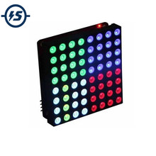 5mm Anode 8x8 Square Matrix Colorful RGB LED Display Module Common Anode Full Colour 60*60mm(China)