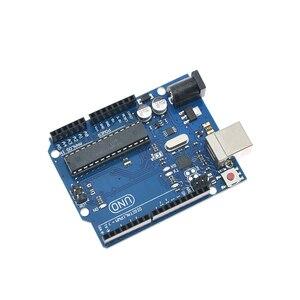 Image 2 - Voor Arduino Uno R3 CH340G MEGA328P Chip 16Mhz ATMEGA328P AU Development Board Geïntegreerde Schakelingen Kit Originele Case + Usb Kabel
