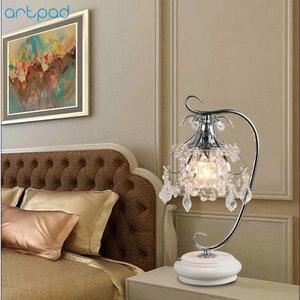Image 2 - Artpad lüks kristal masa lambaları yatak odası için Modern düğün dekorasyon LED dim masa lambası başucu oturma odası aydınlatma
