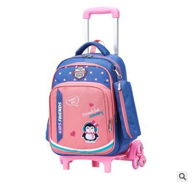 School Wheeled Backpacks Bag Children's Travel Luggage Rolling Bag For Girls Kids Travel Trolley Backpack On Wheels Trolley Bag
