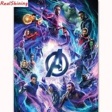 5D DIY Алмазная вышивка крестиком полная квадратная Алмазная вышивка Marvel супергерой картина для комнаты декор H1157