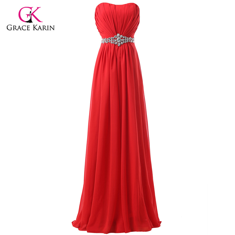 Φ_ΦGrace Karin Red Evening Dresses Long Formal Gowns Sleeveless ...